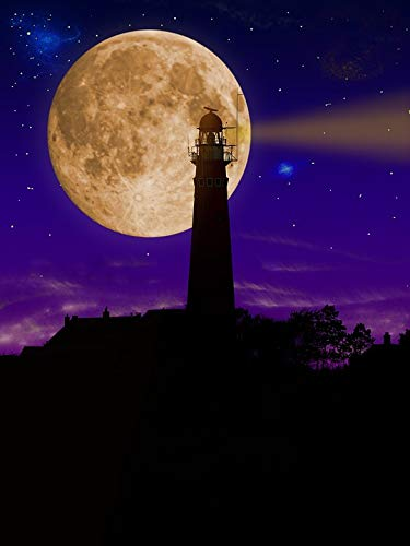 - Home Comforts Peel-n-Stick Poster of Night Illuminated Mood Lighthouse Tower Vivid Imagery Poster 24 x 16 Adhesive Sticker Poster Print
