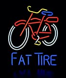 Super Bright! New Fat Tire Sign Handcrafted Real Glass Neon Light Sign Home Beer Bar Pub Recreation Room Game Room Windows Garage Wall Sign