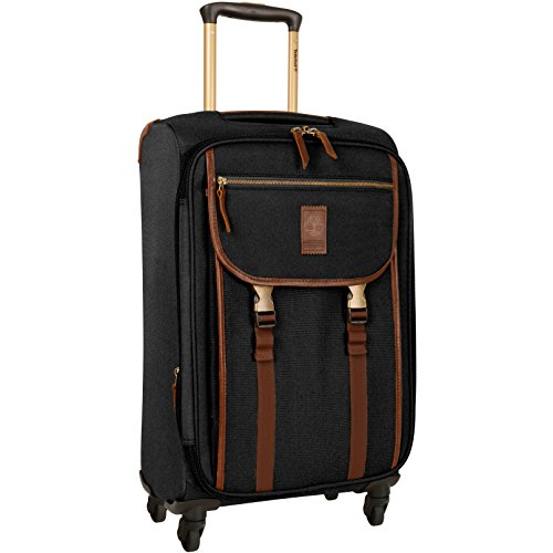 Timberland Expandable Spinner Carry On Suitcase, Black