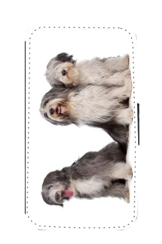 Rikki Knight Bearded Collie Dogs Design New Flip Wallet Galaxy S3 Case for Galaxy S3