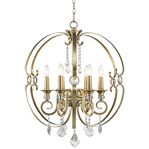 Golden Lighting Ella 6 Light Chandelier in White Gold