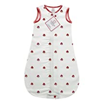 SwaddleDesigns Cotton Flannel Sleeping Sack with 2-Way Zipper, Angry Birds Baby, Red Bird 3-6MO