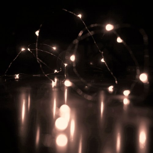 Rtgs Micro LED 20 Super Bright Warm White Color Lights Battery Operated on 7.5 Ft Long Silver Color Ultra Thin String Wire [NEWEST VERSION] + 100% RTGS Products Satisfaction Guarantee