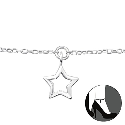 (Atik Jewelry Silver Star Anklet)