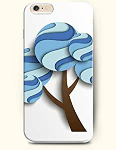 OOFIT iPhone 6 Case ( 4.7 Inches ) - Round Curving Wave Blue Tree