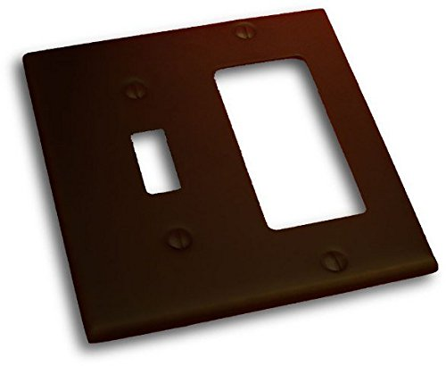 - Residential Essentials 10825VB Double Toggle and Rocker Switch Plate, Venetian Bronze