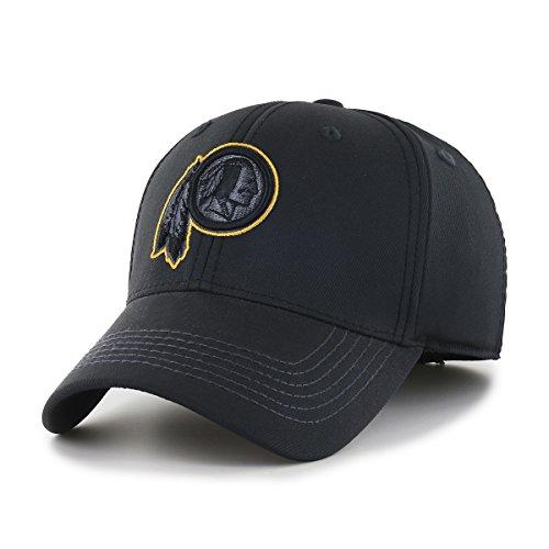 NFL Washington Redskins Wilder OTS Center Stretch Fit Hat, Black, (Washington Redskins Cap)