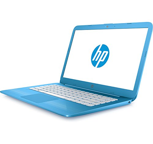 HP Stream 14in Laptop, Intel Celeron N3060, 4GB RAM, 32GB Solid State Drive with Windows 10 (14-ax010ca) – Aqua Blue (Renewed)