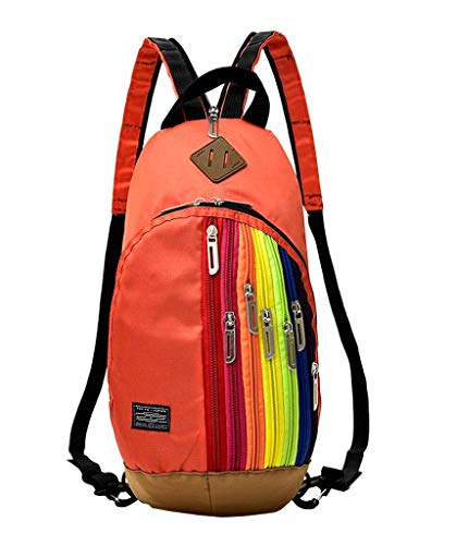 Orange Fille Multifonction en Arc ciel À Vogue Bigood Sac Dos Femme Casual Ajustable pX45R7n