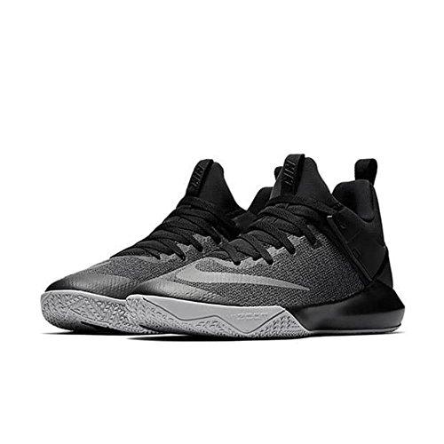 Nike Zoom Shift Uomo Scarpe Da Basket Nero / Riflettere Argento