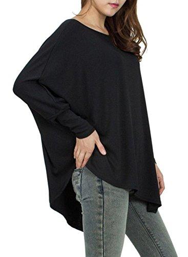 Maglia Manica Pipistrello Pullover Donna Maglione Oversize Ragazza Magliette Tumblr Casuale Camicette Lunghe Blusa Elegante Sweatshirt Jumper Tops