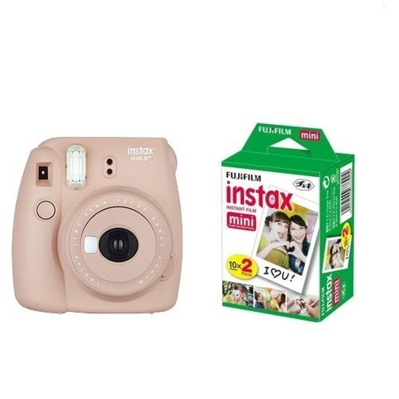 FUJIFILM インスタントカメラ チェキ instax mini8プラス 接写レンズ?純正ショルダーストラップ付き バニラ INS MINI 8PLUS VANILLA