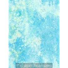 5815427 Ocean Blue Hearthstone for Kids Paper Illusions Wallpaper Torn Faux Finish Wallpaper 85 Square Feet Roll