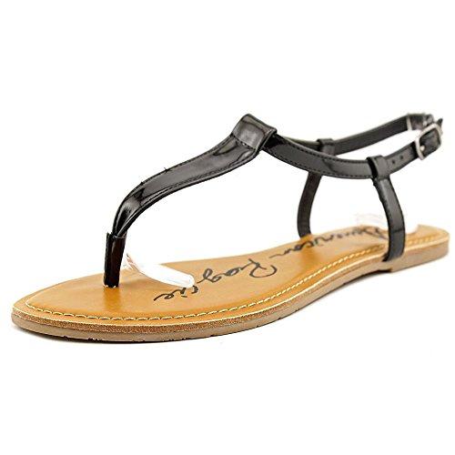 Americana Rag Krista Mujer Black Thong Sandal