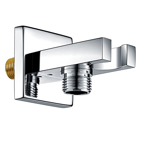 SR SUN RISE Brass Square Handheld Shower Head Bracket Holder Wall Mount,Concealed installation Polished Chrome Finish ()