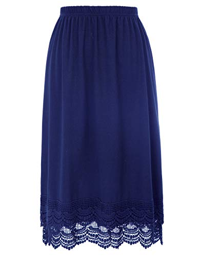 GRACE KARIN Half Slip Nighties for Women Cotton (XXXL, Navy Blue) (Cotton Waist Slip)