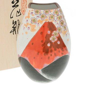 Kotobuki Japanese Vase:9.5''H Kutani Akafuji #510-586