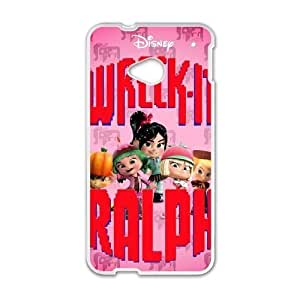 Fashion image DIY for HTC One M7 Cell Phone Case White Wreck It Ralph BAM2941552