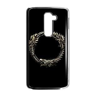 High Quality Specially Designed Skin cover Case games The Elder Scrolls Online Logo LG G2 Cell Phone Case Black