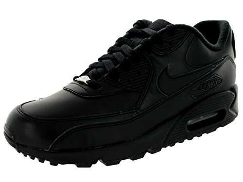 Nike Air Max 90 Leather Mens Trainers Black UMij6