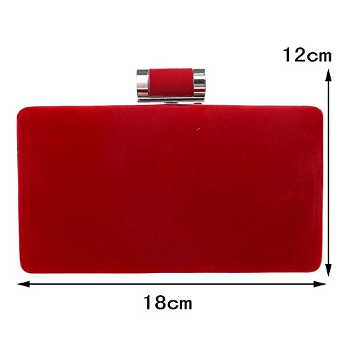 Party Wedding Candy Dinner Bag Velvet Ym1009red Color Evening Small Clutch Mixed Bags qO8qntE