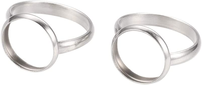 5PCS Adjustable Metal Blank Rings Base Findings Platinum Lead Free 18mm
