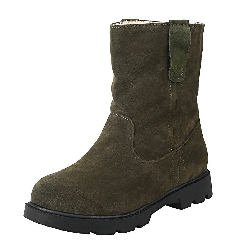 Latasa Dames Comfort Flat Slouch Boots Army Green