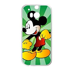 HTC One M8 Cell Phone Case White Mickey Mouse VIU074327