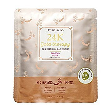 Etude House 24k Gold Therapy Red Ginseng Mask – Firming 5 Sheets For Sale