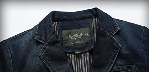 Outwear Blazer Couleur Classique En Revers 1 Longues Slim Pour Garçons Hommes Manches Costume Denim Casual Fit Vestes Leisure 0qaxOPpwO