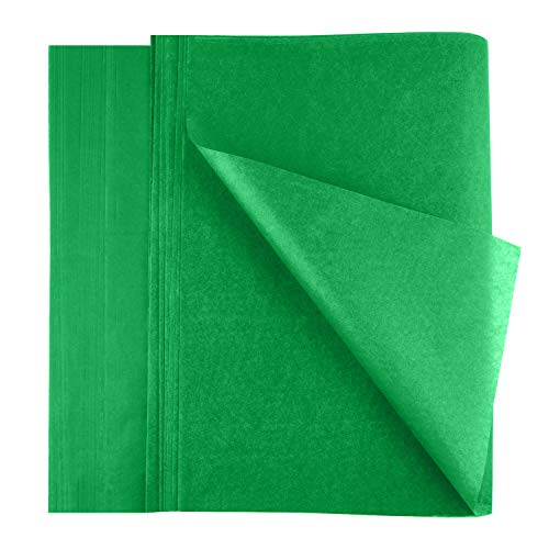 FEPITO 100 Sheets Green Christmas Tissue Paper Gift Wrapping for Xmas Wrapping Presents, Crafts(14 x 20 Inch)