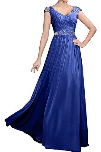 Topkleider mujer trapecio real azul Vestido para q7qOaWv8