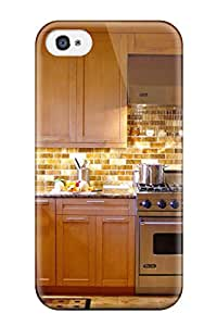 JBvNxgh16452VXTeD Transitional Kitchen With Warm Brown Tiled Backsplash Fashion Tpu 4/4s Case Cover For Iphone