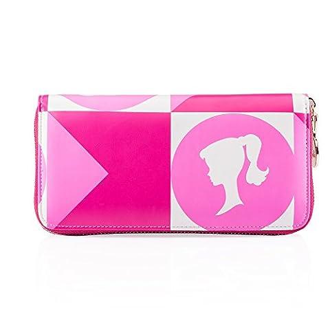 Barbie Modern Series Simple Fashion barbie pattern multicolor Women Purse #BBPS016 (standard, rose)