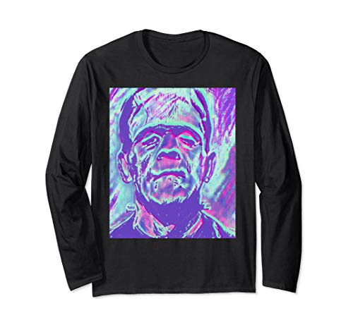 Frankenstein rock and roll horror art long sleeve abstract