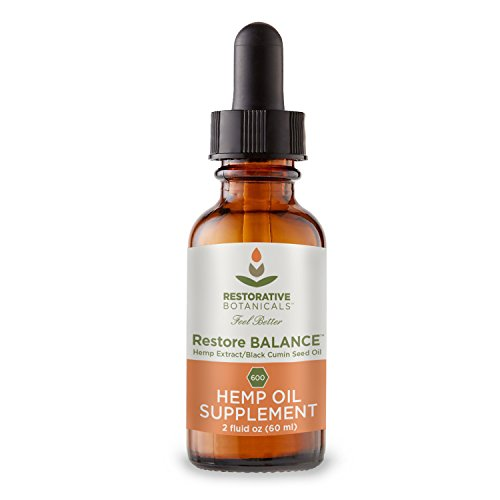 Restore BALANCE - SPICY BLACK PEPPER flavor profile Hemp Oil Extract infused in Organic Black Cumin Seed Oil - 600 mg - 2 ounce (60ml) - Organically Grown Colorado by Restorative Botanicals, LLC