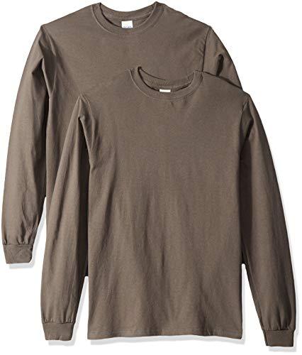 - Gildan Men's Ultra Cotton Adult Long Sleeve T-Shirt, 2-Pack Shirt, -Charcoal, 2X-Large
