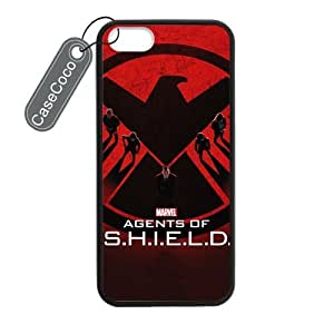CASECOCO(TM) iPhone 5 5s Case, Favorate TV Series Agents of Shield Case for iPhone 5&5s - Protective Hard Back / Black Rubber Sides