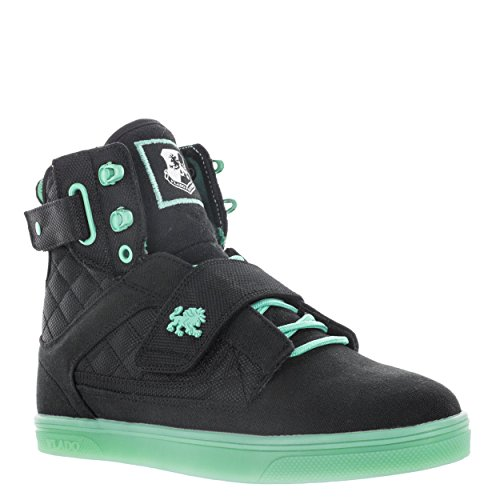 VLADO Footwear Women's Atlas 2 Canvas/Nylon High Top Black Mint Sneakers US 8