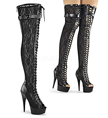 Pleaser Women's DEL3025ML/BPU/M Boot