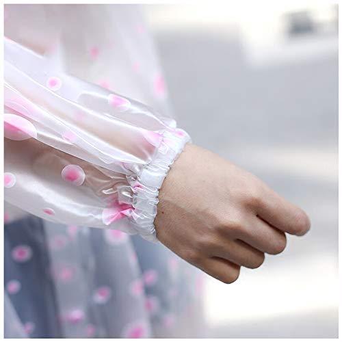 A Geyao Donne Size M Single Pink Pink Adulto E Viaggi Di Pezzo Moda Poncho color All'aperto Piedi Trasparente Uomini Lungo Impermeabile rr6AwPqU