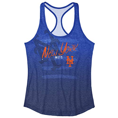 FOCO MLB New York Mets Heather Stripe Tank - Womens Extra Large