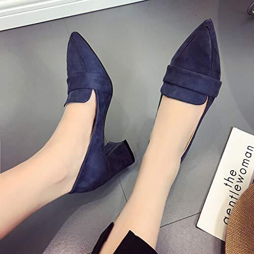 sauvage talons pointu de Zyueer femmes anti à chaussures basses pour chaussures dérapant sandales femmes mode bleu la les aggia bout Ipx7wqBCp