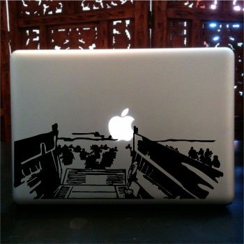 Laced Sword - Normandy Invasion laptop skin vinyl decal
