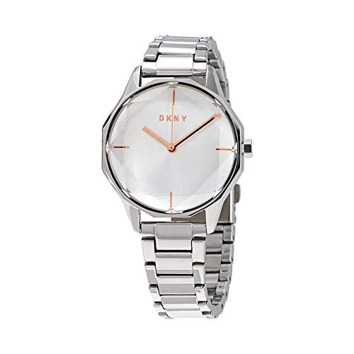 DKNY Cityspire Quartz Silver Dial Stainless Steel Ladies Watch ()