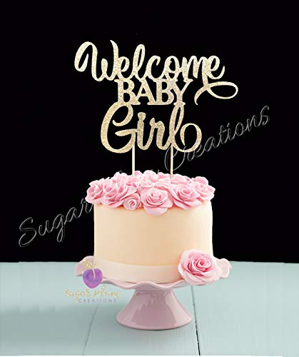 Welcome Baby Girl Cake Topper]()