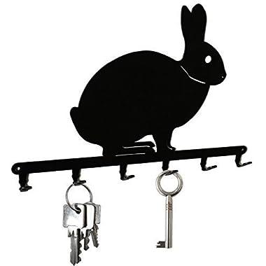 Rabbit - Key Holder Bunny, Hooks, Hanger, Metal, Black