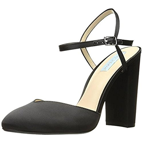Blue by Betsey Johnson Women's Sb-Cora Dress Pump, Black Satin, 8.5 M US Betsey Johnson Satin Heels