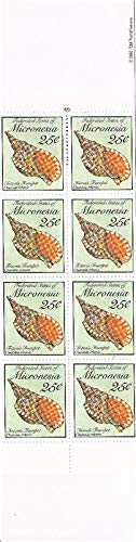 Micronesia 1989 Tritons Trumpet Seashell 10 Stamp Booklet #88a 13Q-101