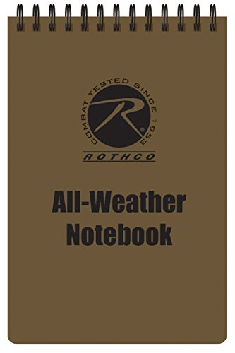 Rothco All Weather Waterproof Notebook, Coyote Brown, 4